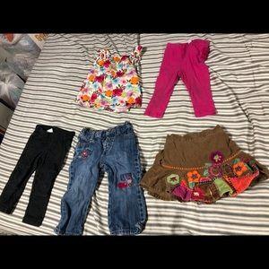 🔴Bundle 5pcs Girls Kid Baby Clothes 12-18 Months